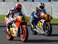 Reunion - King Kenny Robers and Fast Freddie Spencer at at reunion in Japan.  Looks like Freddie going to let him when this one.