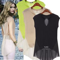 Find More Blouses & Shirts Information about Chiffon Shirt Women Blouse Tank Tops Sleeveless V Neck Patchwork Camisas Femininas Plus Size New 2014 Pullover Summer S XXL,High Quality blous,China shirt f Suppliers, Cheap shirt short sleeve men from Tina Fashion Woman Clothing Store on Aliexpress.com