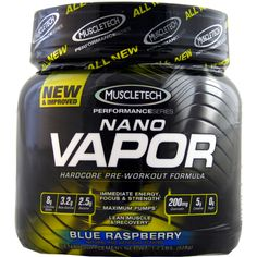 MuscleTech Nano Vapor Blue Raspberry Performance Series 1.23 lbs | Regular Price: $64.99, Sale Price: $44.99 | OvernightSupplements.com | #onSale #supplements #specials #MuscleTech #PreWorkout  | Hard Core Pre Workout Formula Nano Vapor The Strongest Pre Workout Formula Ever Developed Nano Vapor is the first pre workout to deliver the unique and innovative combination of ingredients found in its formula It supplies key ingredients that have been dosed based on human clinical