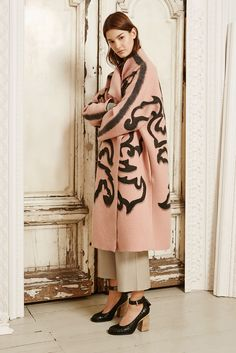 581b790ade099 oversize cocoon coat with faux fur collar