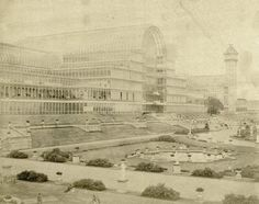 Italianate garden, Crystal Palace, Sydenham, c 1859 Exhibition Building, Exhibition Space, Glass Structure, London United Kingdom, English Heritage, River Thames, Old London, Crystal Palace, Capital City