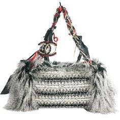 Chanel Inuit Tweed Fantasy Fur Tote Bag - it is so ugly it's cool!! #handbags #style
