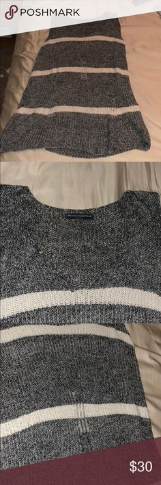 Brandy Melville Knit Top Knit too, slightly distressed, can be worn as a top or as a dress. Very cute I wore it tied but very versatile. Brandy Melville Tops