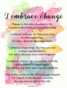 An Affirmation to Go with the Flow and Embrace Change Healing Affirmations, Positive Affirmations Quotes, Morning Affirmations, Affirmation Quotes, Positive Quotes, Super Soul Sunday, Positive Life, Positive Thoughts, Positive Mindset