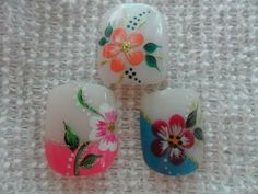 French Tip Nail Designs, French Tip Nails, Toe Nail Designs, 3d Nail Art, 3d Nails, Toe Polish, Manicure Y Pedicure, Flower Nails, Triangles