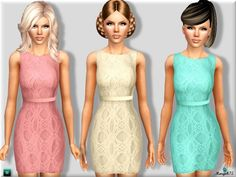 Anna Sui Inspired Crotchet Dress by Margeh75 - Sims 3 Downloads CC Caboodle