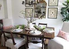 Fresh update of a Duncan Phyfe dining set.