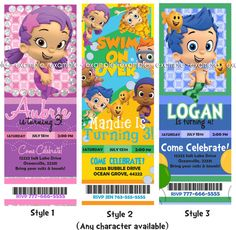 Bubble Guppies Party Invite