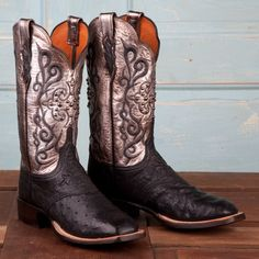 Lucchese+Ladies'+Black+Full+Quill+Boots