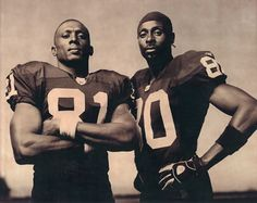 Jerry Rice and Tim Brown - Oakland Raiders Raiders Players, Nfl Raiders, Oakland Raiders Football, Raiders Baby, Football Team, Sports Illustrated Nfl, Raiders Wallpaper, Raiders Stuff, Raider Nation