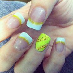 Softball Nails - #nailsbyamyb  Instagram and twitter @nailsbyamyb