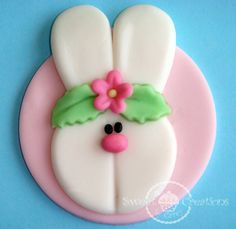 Fondant Bunny Easter Cupcake Toppers by SweetCreationByCarey