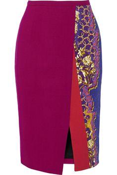 Peter PilottoRia printed stretch-cady pencil skirt