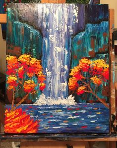 Summer Painting Autumn Waterfall Paintings
