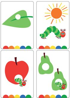 Brand new set of Happy Caterpillar Story Sequence Flash Cards!
