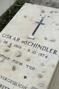 Oskar Schindler's grave on the Mount of Olives, Jerusalem