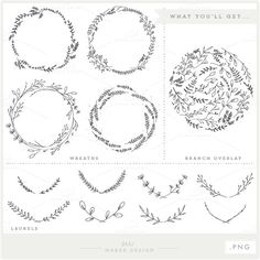 Branches Wreaths & Laurels Bundle PNG Files by ShhMakerDesign