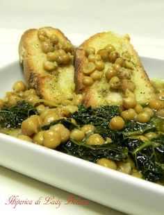 Italian Food - Zuppa di ceci e cavolo nero.. This explains my love for garbanzos. We had this soup every summer! Or any time we would visit my papa