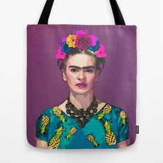 BUY: http://society6.com/product/trendy-frida-kahlo_bag?curator=4thecrime