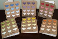 Lex//Art Paint Samples Ombre Heart Card Set