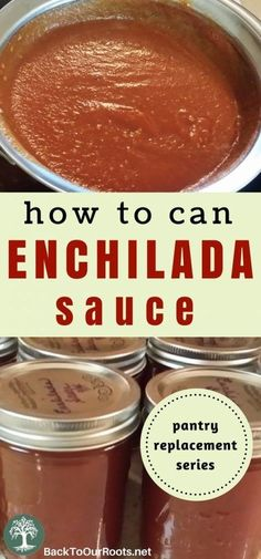 The Best Enchilada Sauce in the World ~ with Canning Directions Pressure Canning Recipes, Home Canning Recipes, Canning Tips, Cooking Recipes, Tomato Canning Recipes, Pressure Cooking, Canning Soup, Canning Salsa, Cooking Corn