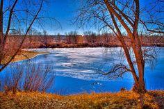 Ice on Eaglewatch Lake
