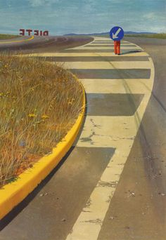 Jeffrey Smart, Near Ponticino Jeffrey Smart, Australian Painters, Australian Artists, Urban Landscape, Landscape Art, Art For Art Sake, Home Art, Smart Art, Contemporary Artists