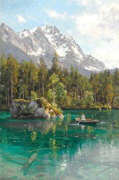 Peder Mork Monsted (1859 - 1941), from http://catmota.com, #art #nature