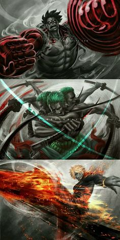 Luffy, Zoro and Sanji - One Piece Crew, Zoro One Piece, One Piece World, One Piece Fanart, One Piece Anime, One Piece Images, One Piece Pictures, Cuadros Star Wars, One Piece Wallpaper Iphone