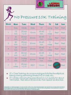 No pressure 10K training plan