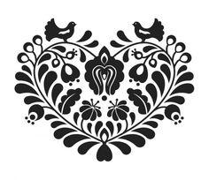 Magyaros mintás póló - Szív, Magyar motívumokkal, Ruha, divat, cipő, Női ruha…