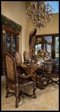 Classy Dining Room Interior Design And Decor Ideas - Tuscan Dining Rooms, Dining Decor, Dining Room Sets, Dining Room Design, Tuscan Style Homes, Tuscan House, Tuscany Decor, Room Interior, Interior Design