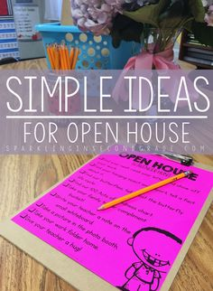 Open House Activities Simple ideas for your school's Open House!Simple ideas for your school's Open House! Open House Kindergarten, Preschool Open Houses, Kindergarten Class, Preschool Themes, Elementary Teacher, Elementary Schools, School Teacher, Preschool Orientation, Parent Orientation