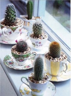 repurposed tea cups and saucers - Google Search