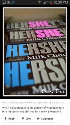 Boy or girl hershey chocolate bar