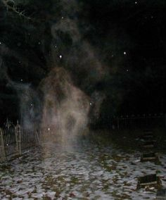 Pinner says:This photograph appeared in both the Chicago Sun-Times and the National Examiner. It was taken during a paranormal investigation in Bachelor's Grove Cemetery on August Ghost Pictures, Creepy Pictures, Ghost Pics, Scary Places, Haunted Places, Haunted Houses, Paranormal Pictures, Ghost Sightings, Ghost Hauntings