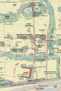 Detailed history and map of private property © Eureka Cartography, Berkeley, CA