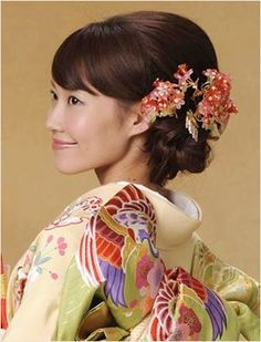 Japanese bridal hair - updo - wedding