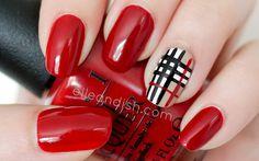 Burberry Inspired Nail Tutorial // elleandish