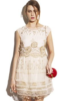 Embroidered applique Skin Dress. Description Skin Dress, featuring round neckline, embroidered applique on waist, lace puff skirt, invisable zipper, double-layered skirt and lace trimming, regular fit and soft-touch fabric.  Fabric Dacron Washing 40 degree machine wash, low iron. #Romwe