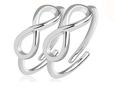 Shop for Infinity Symbol Adjustable Rhodium Plated Brass Double Mid-Ring/Toe-Rings. Get free delivery On EVERYTHING* Overstock - Your Online Jewelry Destination! Mid Rings, Rings Of Saturn, Circular Barbell, Labret Studs, Men's Jewelry Rings, Silver Nose Ring, Infinity Symbol, Rings N Things, Game
