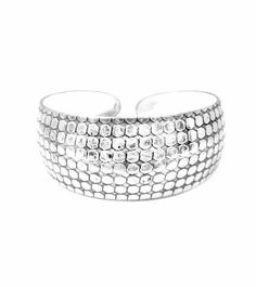 Miao Silver Cuff Bracelet Wide - Reptile Pattern Penelope Jewelers. $13.99. The stylish cuff bracelet is sure to compliment any look!. Dimension & Measurement: Cuff approx 7-inches end to end & approx 1-inch wide. The Miao Silver cuff has an antique-like finish.. This is a beautiful Miao Silver cuff bracelet featuring a stamped reptile pattern.. Save 36%!