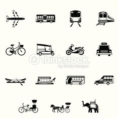 thai icons - Google Search Like tuk tuk / songtheaw / elephant / samlor / bus