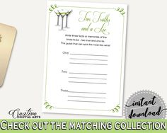 Two Truths And A Lie Bridal Shower Two Truths And A Lie Modern Martini Bridal Shower Two Truths And A Lie Bridal Shower Modern Martini ARTAN #bridalshower #bride-to-be #bridetobe