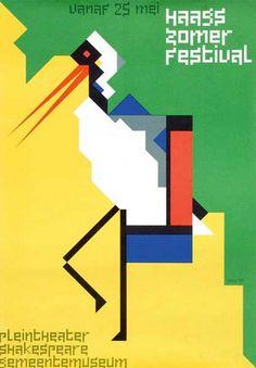 Poster by Gielijn Escher (b. 1945), 1986, haags zomer festival.