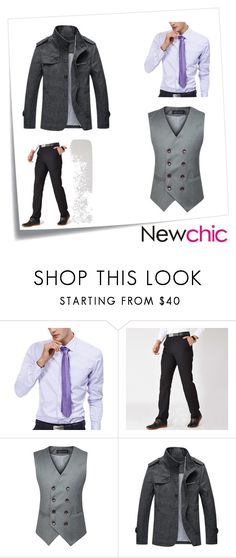 """""""#Newchic"""" by kristina779 ❤ liked on Polyvore featuring Post-It, men's fashion, menswear, polyvorefashion and polylove"""