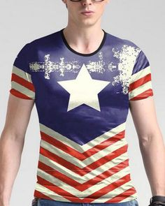 b9f34c160cc American style fashion retro printing boutique short sleeve t-shirt Summer  2017 new fashion slim high-quality t shirt men