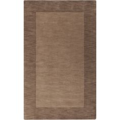 Handmade Casual Style Wool Rug (2' x 3') (Taupe-(2' x 3')), Brown, Size 2' x 3'