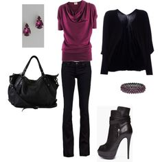 I like this outfit, except minus the heels. Because I'm pretty sure I'd sprain my ankles in them.