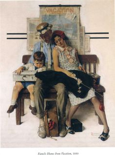 Family Home from Vacation - Norman Rockwell